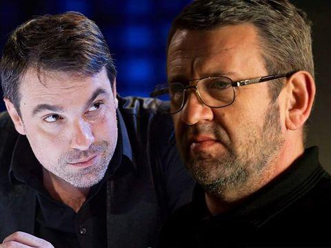 Singura dată când Alexandru Papadopol şi Adrian Titieni s-au aşezat la aceeaşi masă! Cei doi au jucat împreună într-o piesă de teatru! FOTO
