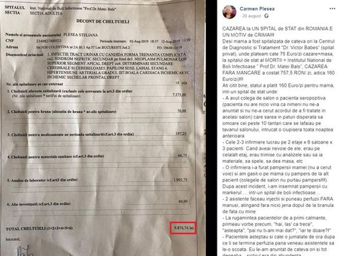 """O vedetă de la noi este revoltată! Are de plătit o sumă colosală după ce și-a internat mama într-un spital de stat: """"Cazarea la un spital de stat din România e un motiv de crimă!"""" Ce a spus despre condițiile de acolo"""