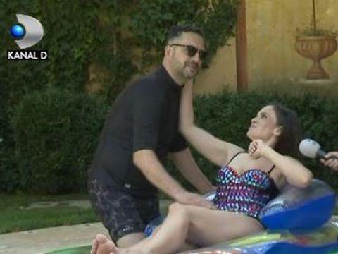 VIDEO | Mădălin Ionescu, aniversare la piscină