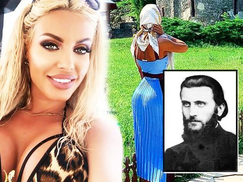 """INCREDIBIL! Așa s-a dus îmbrăcată Loredana Chivu la mormântul lui Arsenie Boca! """"Doamne ajută la toată lumea!"""" FOTO"""