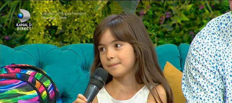 Fiica Danielei Gyorfi, gata de școală! Maria a venit la Teo Show cu mami și cu tati