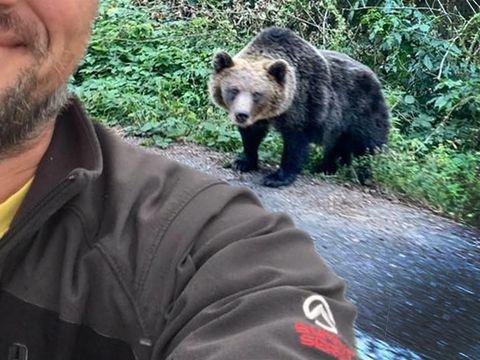 """Un cunoscut actor român a povestit întâlnirea șoc cu ursul: """"Mi-a sărit în cale dihania!"""" FOTO"""
