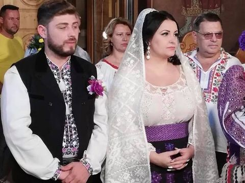 Imagini incredibile de la nunta Silvanei Rîciu! S-a căsătorit cu sufletul ei pereche unde este înmormântat Aurelian Preda