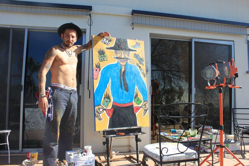 """Un pictor celebru creează un tablou cu Adrian Minune: """"A ieşit mai frumos ca în realitate"""" FOTO"""
