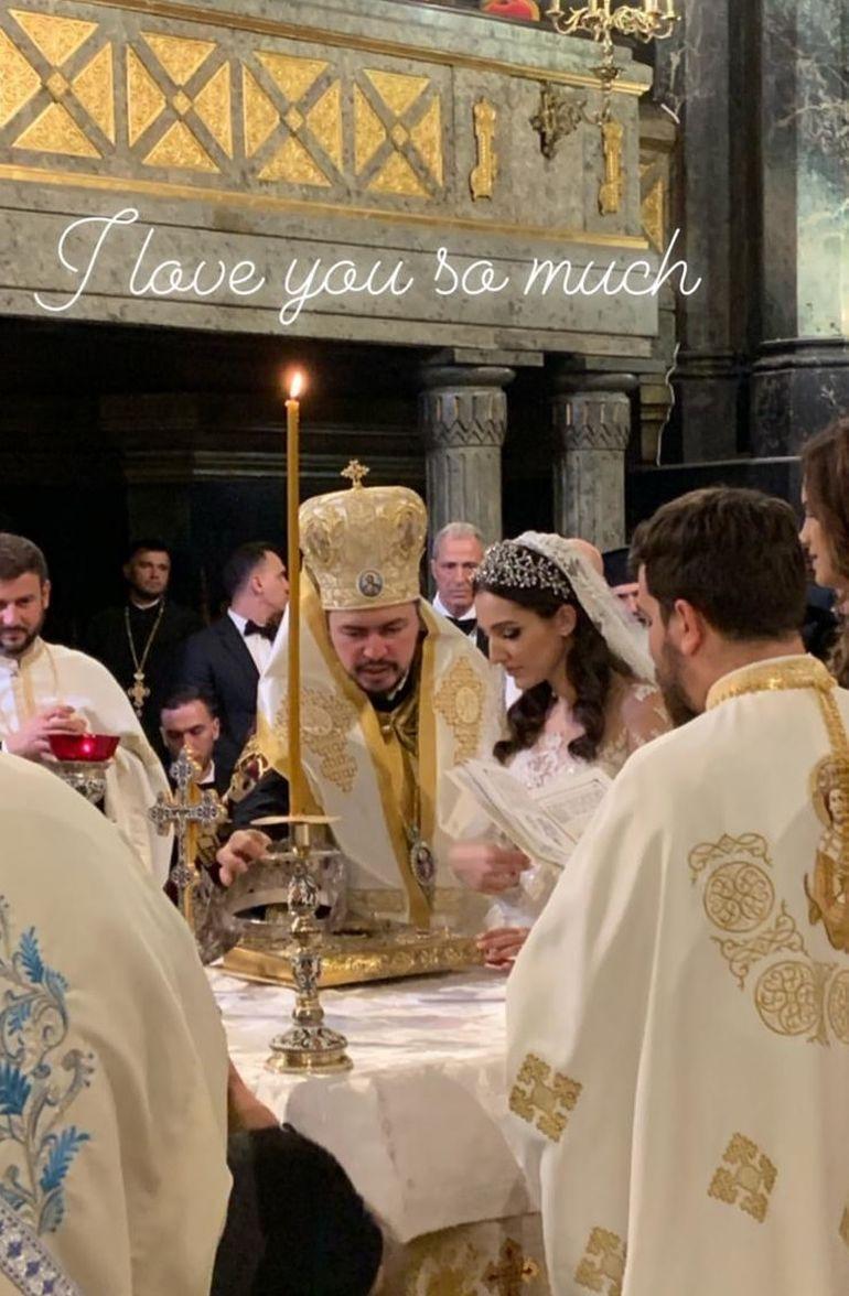 Imagini inedite de la cununia Teodorei Becali cu alesul inimii! Gigi Becali i-a întâmpinat pe călugării de pe Muntele Athos