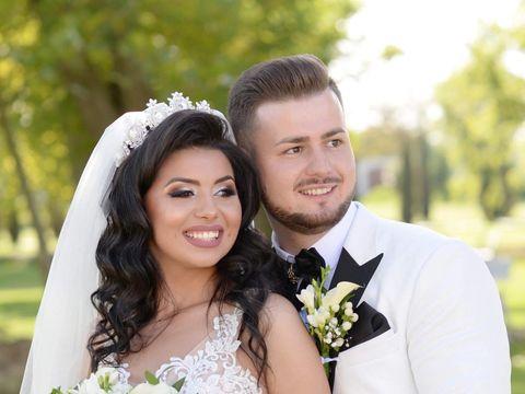 """Doi îndrăgiți cântăreți de muzică populară și-au unit destinele. Au spus """"DA!"""" după 8 ani de relație! Imagini fabuloase de la nuntă"""
