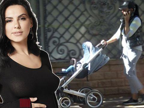 Lavinia Pârva, cărucior de 1.000 euro asortat la pantaloni de casă! Cum a ieșit soția lui Ștefan Bănică Jr la plimbare cu micuțul Alexandru  VIDEO EXCLUSIV