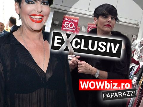 Patrizia Paglieri a greșit și a intrat într-un magazin cu mult prea multe haine... roz! N-a rezistat reducerilor!
