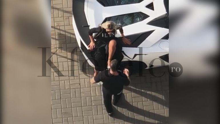 """SUPER EXCLUSIVITATE KFETELE.RO! ȘOC ÎN PLINĂ STRADĂ ÎN URMĂ CU PUȚIN TIMP! Bianca, agresată în public de Alex Bodi! Totul s-a petrecut în parcarea unui restaurant celebru din Capitală! """"Plângea întruna!""""! Blonda l-a împins cu piciorul de frică"""