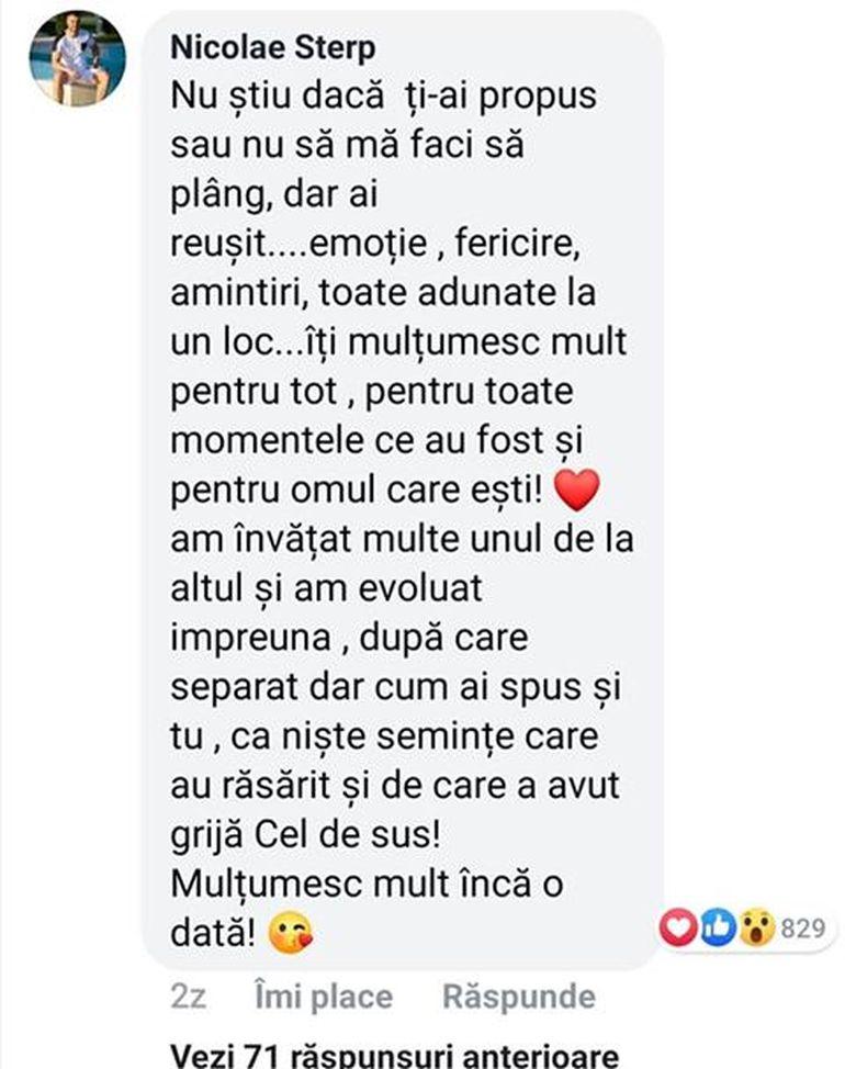 """Culiță Sterp, mesaj public pentru Carmen de la Sălciua: """"Ai reușit să mă facă să plâng de emoție"""""""