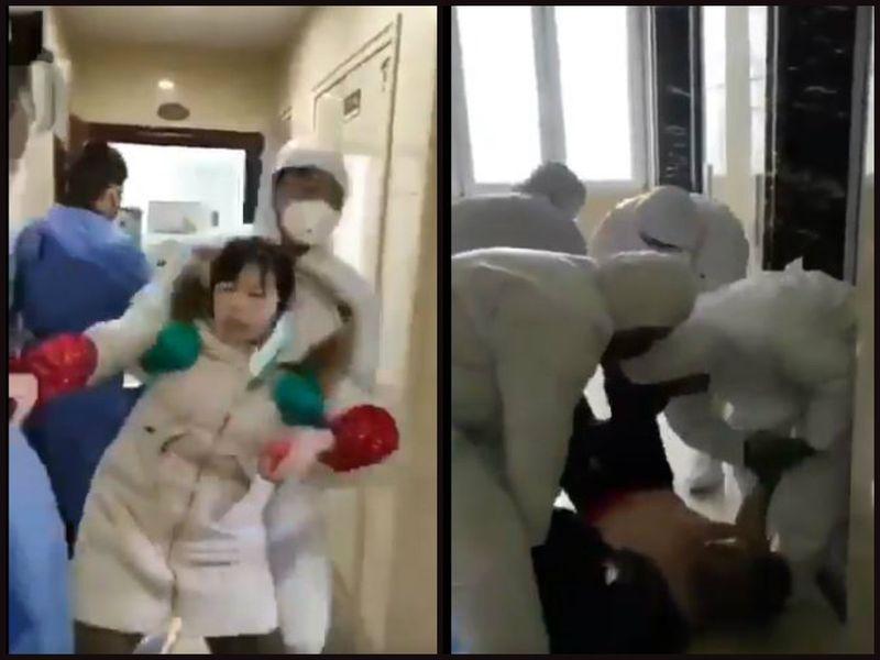 Video!  Suspecții de coronavirus din Wuhan, luați cu forța din casă
