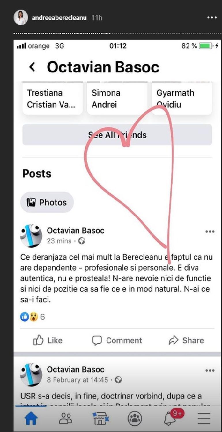 Ce a apărut pe contul Andreei Berecleanu după ce și-a anunțat demisia de la pupitrul știrilor?
