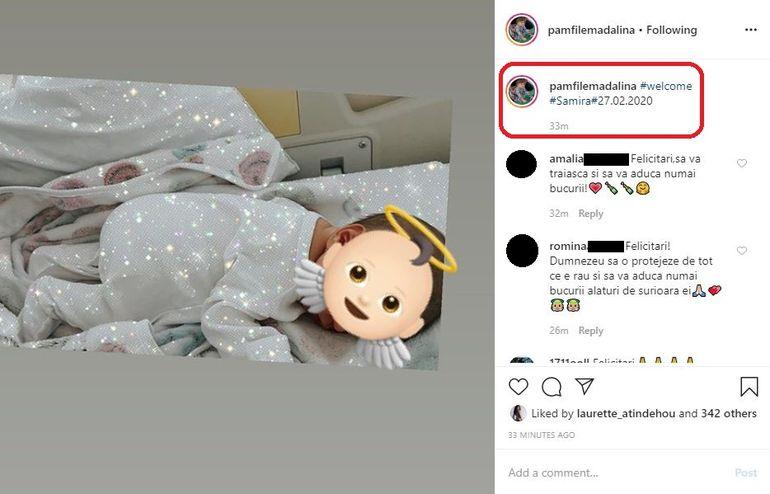 Mădălina Pamfile a născut! Prima fotografie cu bebelușul