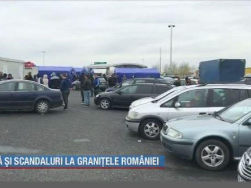 Frică și scandal la granițele României