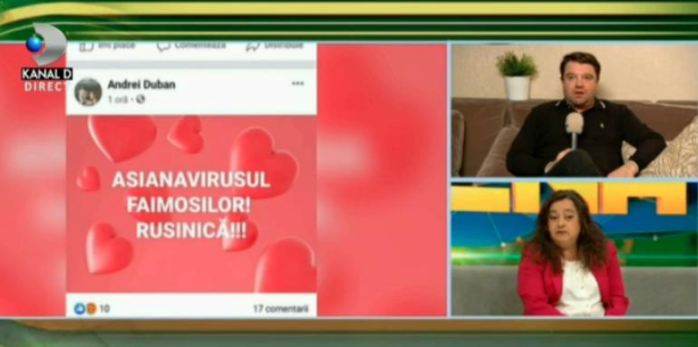 """Scandal în direct, între Andrei Duban și mama Asianei: """" Vai, imi cer scuze, am uitat că vorbesc cu valorosul..."""""""