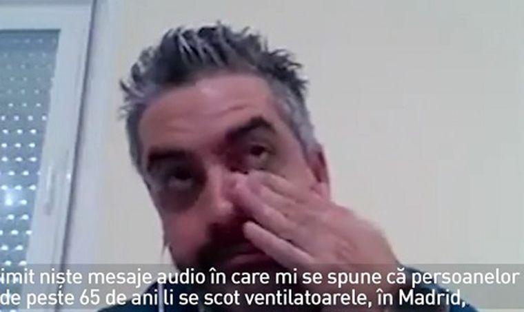 Medic din Spania, mesaj plângând: