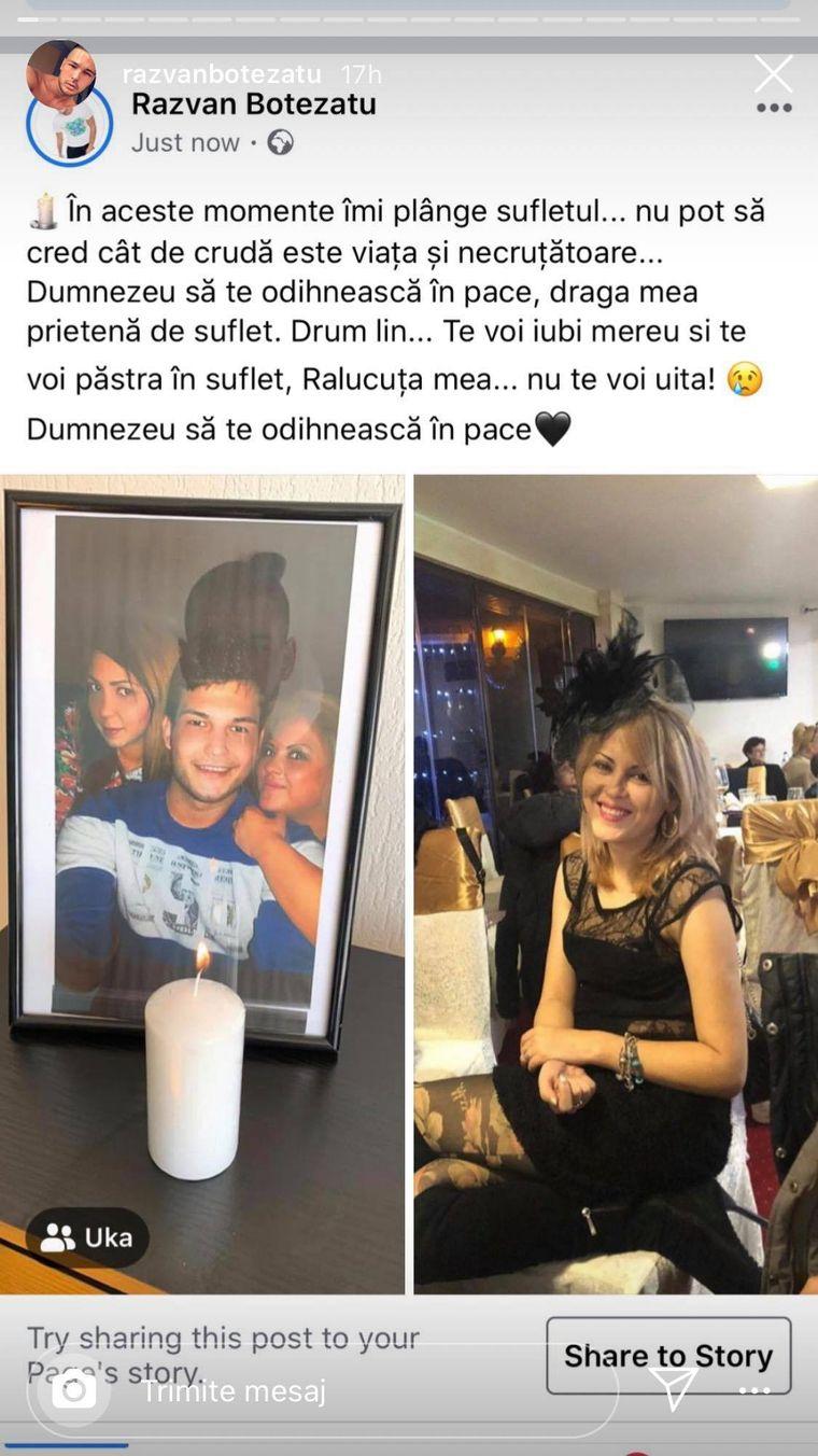 """Răzvan Botezatu este devastat de suferință. Raluca a murit. Mesajul sfâșietor al fostului prezentator: """"Îmi plânge sufletul.."""""""