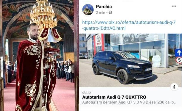 Postarea controversată a unui preot! Și-a pus mașina la vânzare pe pagina parohiei - Suma uriașă pe care o cere pentru bolidul de lux