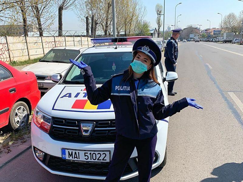 Larisa Iordache, politista in timpul starii de urgenta