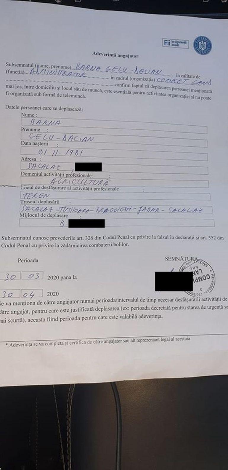 Dovada abuzului Poliției în cazul fermierului amendat cu 5.000 lei! Procesul verbal întocmit de agent, plin de erori și contradicții flagrante