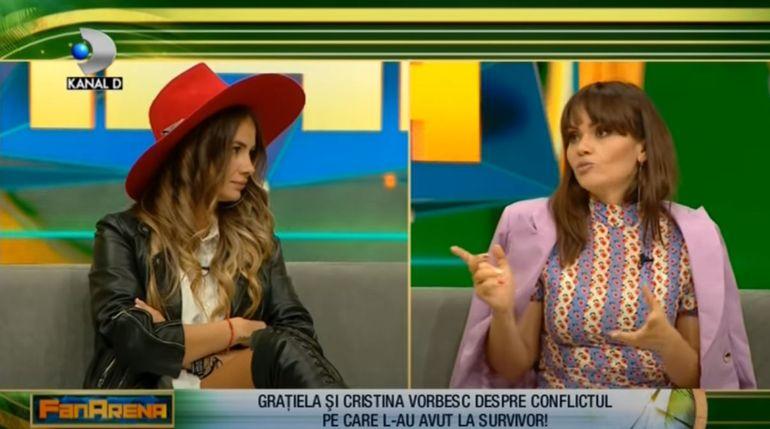 """Grațiela Duban și Cristina Șișcanu,  scandal după Survivor! """"Nu știu ce aș mai putea să vorbesc cu ea"""""""