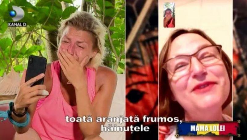 Lola Crudu a plans cand a vorbit cu mama ei si a anuntat-o ca e in Finala Survivor Romania