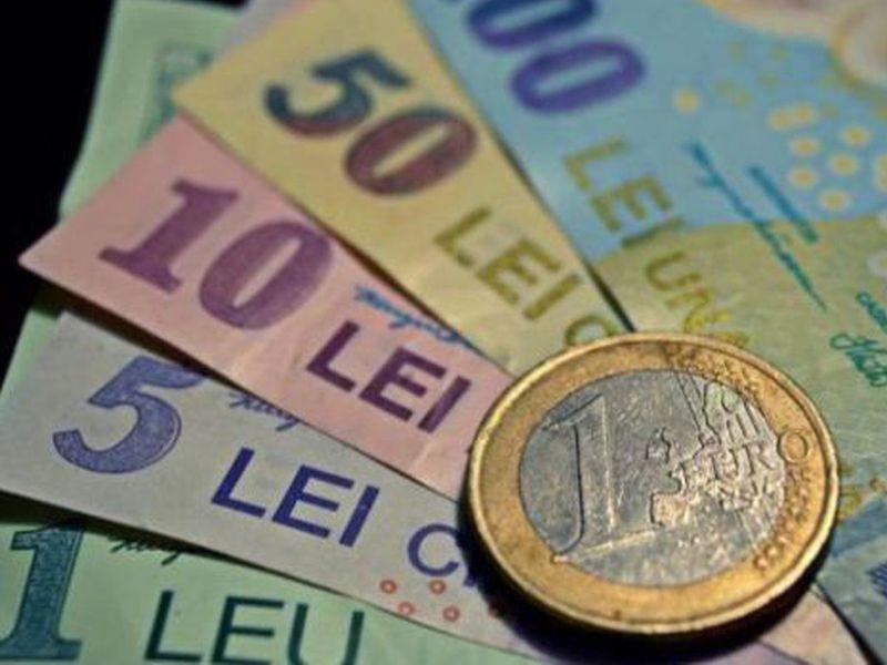 Leul a crescut miercuri la 4,8389 unităţi pentru un euro