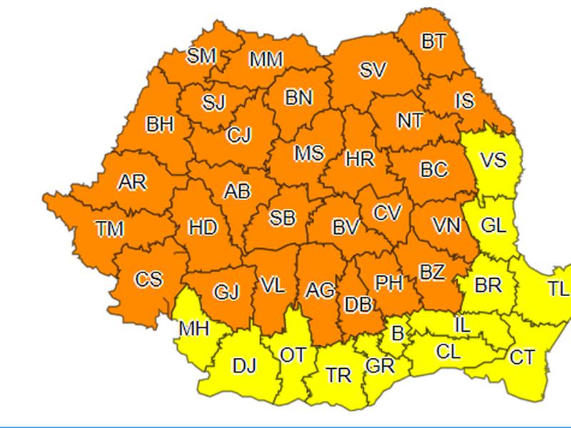 Meteo. Cum va fi vremea în România