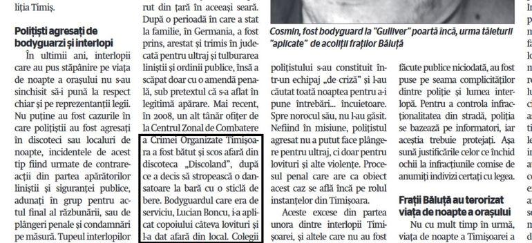 """Interlopul care a vrut să asasineze un jurnalist și-a început cariera în fostul club al lui Brigitte Sfăt! Lucian Boncu a lucrat ca bodyguard la """"Discoland"""""""