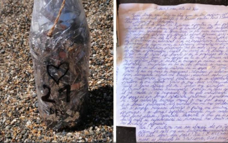 Scrisoare de dragoste scrisă în limba română, găsită într-o sticlă pe o plajă din Irlanda! Ce scria și pentru cine era