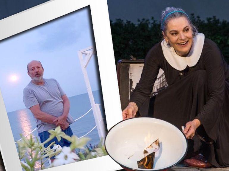 """Maia Morgenstern e fericită la mare cu fostul ei soț, Claudiu Istodor, pe care îl alintă """"reginul nopții"""" FOTO"""
