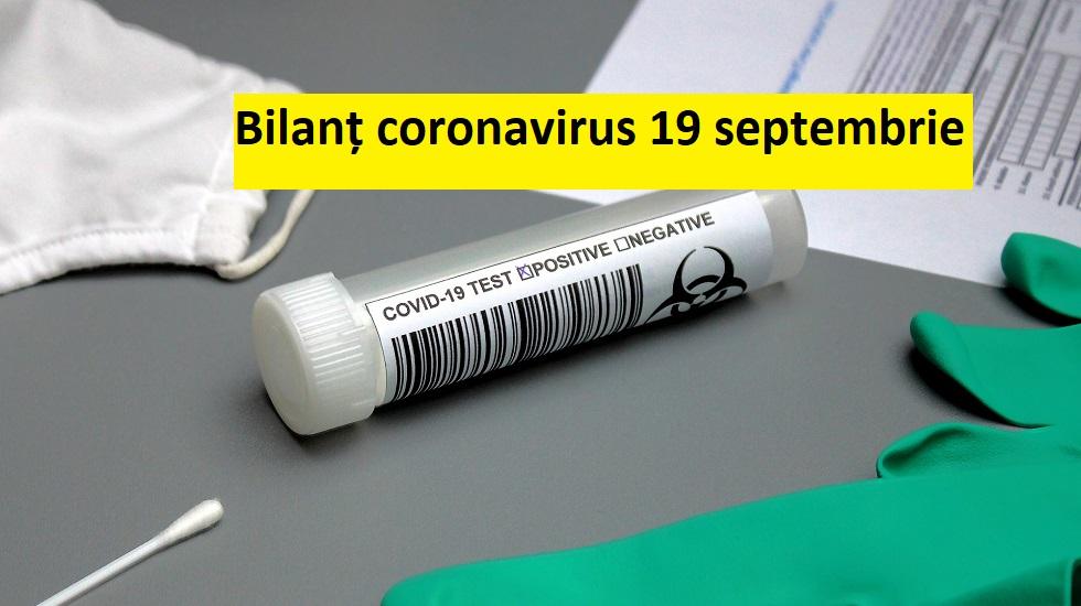 Coronavirus în România, 19 septembrie 2020. 1.333 de cazuri noi și 42 de decese cauzate de COVID-19. Bilanțul pe județe și numărul de teste efectuate