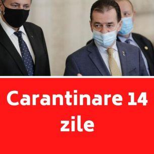 Ludovic Orban a facut anuntul important pentru toti romanii: ''Carantinare de 14 zile''