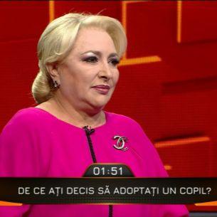 Viorica Dancila a explicat motivul din spatele adoptiei lui Victor, chiar daca sotul nu a fost de acord: ''Eram foarte tanara, nu eram pregatita''