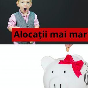 Alocațiile cresc de la 1 februarie! Veste excelentă pentru toți părinții și copiii din România!