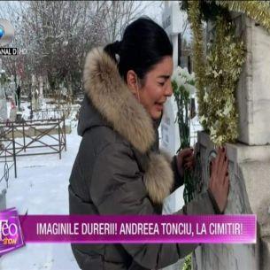 Imaginile durerii cu Andreea Tonciu! Aşa cum nu ai mai văzut-o până acum, în lacrimi, la cimitir