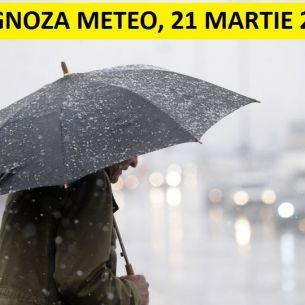 Prognoza meteo ANM pentru duminica, 21 martie 2021: Vremea se mentine rece! Iata unde revin ploile!