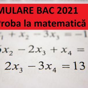 Subiecte simulare BAC 2021, proba la matematică. Barem de corectare conform edu.ro. Cum se rezolvau exercițiile și problemele?