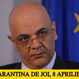 Lockdown în România de  joi, 8 aprilie! Raed Arafat a dat ordinul. Ce măsuri vor intra în vigoare