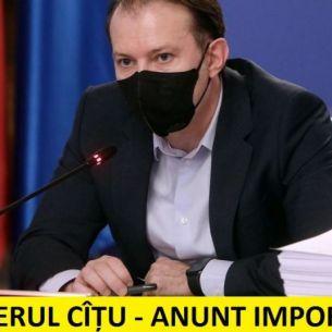 Veste importantă pentru toți românii! Se întâmplă din august. Florin Cîțu a făcut marele anunț
