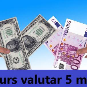 Curs valutar BNR miercuri, 5 mai 2021: Cât costă astăzi un euro și un dolar
