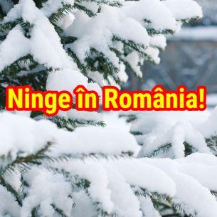 Unde NINGE in Romania!   Oamenii au fost surprinsi de zapada in toiul verii în România!
