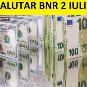 UPDATE: Curs valutar BNR vineri, 2 iulie 2021. Care sunt cotatiile pentru euro, dolar, lira turceasca la final de saptamana