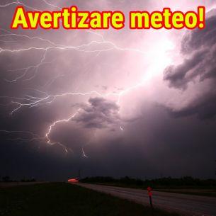 Avertizare meteo:  ANM anunţă ploi, vijelii şi grindină în 26 de judeţe în următoarele ore