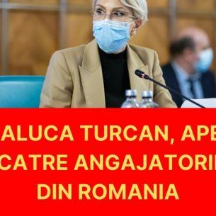 Ministrul Muncii, Raluca Turcan, solicita angajatorilor sa mareasca salariile pentru a impiedica plecarea romanilor din tara!