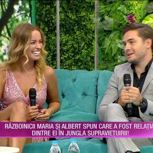 Maria și Albert, invitați la Teo Show! Au lămurit și misterul sărutului de la Survivor! S-au PUPAT sau nu?