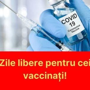 Este anunțul momentului în România! Te vaccinezi și stai acasă! Pe bani! Legea a fost promulgată de Klaus Iohannis