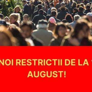 Noi restricții de la 1 august! Masca de protecție rămâne obligatorie. Iată ce măsuri îi așteaptă pe români