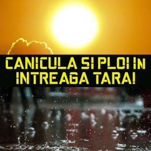 Prognoza meteo ANM pentru joi, 5 august 2021: CANICULĂ și PLOI! Unde se topesc românii și unde se răcoresc