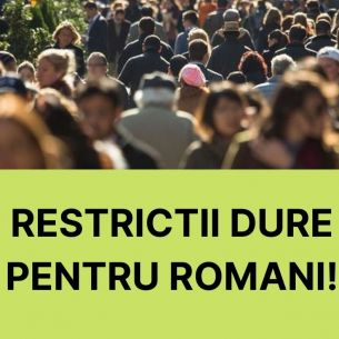 Restricții dure au intrat in VIGOARE în România. Barurile și restaurantele se închid!
